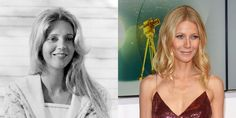 Blythe Danner and Gwyneth Paltrow: one of 28 famous parent-kids pairs that look so alike, it's almost scary.