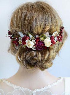 NEW Stunning Crystal Leaf /& Flower Barrette Hair Clip Navy or Silver UK Seller