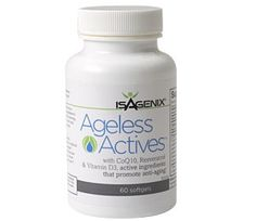 "Ageless Actives combats the effects of ""cellular aging,"" which is result of free radical damage on cell proteins, membranes and DNA. What we see as signs of aging—wrinkles, loss of lean body mass, bone strength, memory loss and reduced physical capacity—is, in fact, ""cellular aging."" By combining CoQ10 and Vitamin D3, as well as age-defying Resveratrol.  http://cupie.isagenix.com"