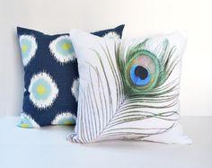 Pillow Covers Decorative Pillows Photo Pillow Throw Pillows Peacock Pillow16x16 18x18 20x20