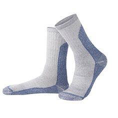 Mens Wool Socks Merino Wool Cushioned Socks For Winter Skiing Hiking Backpacking Trekking Climbing Blue * Visit the image link more details.