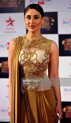 Indian Bollywood actress Kareena Kapoor Khan attends the BIG Star Entertainment Awards ceremony in Mumbai on December 18, 2013.