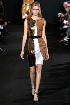 Gold Panels at Prabal Gurung Fall 2012 RTW