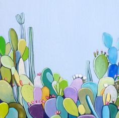 'Molly's Garden' cactus bloom painting by Kate Jarman.