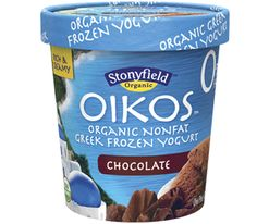 Love chocolate frozen yogurt? Love Greek Yogurt? Try our new Oikos organic Greek frozen yogurt for a delicious, non fat frozen yogurt treat.  Get a full list of flavors.    #Stonyfield I will be a super hero with this delicious treat for sure! #Stonyfield