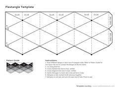 This Flextangle Template Printables & Template is suitable for - Grade. Kids use the provided template to transform a plain G sheet into a solid G paper toy. Diy Paper, Paper Art, Paper Crafts, Foam Crafts, Flextangle Template, Art For Kids, Crafts For Kids, Origami Templates, Box Templates