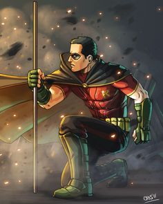 I wanted to draw Robin from the video game, even though they say he's Tim Drake. I leave here the [link] for the reference used. Tim Drake in Arkham City Hq Marvel, Marvel Dc Comics, Robin Comics, Batman Arkham, Batman Robin, Comic Book Characters, Comic Character, Comic Books, Nightwing
