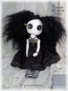 Gothic cloth art doll by Strange Little Girls - Arabella Darkling