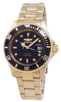 Features:  Gold Tone Stainless Steel Case Gold Tone Stainless Steel Bracelet Quartz Movement Caliber: PC32 Flame Fusion Crystal Black Dial Analog Display Luminous Hands And Markers Date Display Uni-Directional Rotating Bezel Pull/Push Crown Solid Case Back Deployment Clasp 200M Water Resistance  Approximate Case Diameter: 40mm Approximate Case Thickness: 13mm Stainless Steel Bracelet, Stainless Steel Case, Rolex Watches, Watches For Men, 200m, Gold Watch, Quartz, Uni, Markers