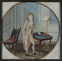 Jeune violoniste dans un salon, late 18th century, French school