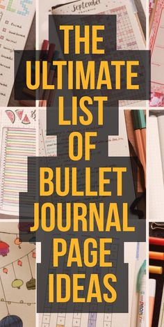Looking for bullet journal page ideas to get inspired in your weekly planning? Here you'll find a huge master list of bullet journal page ideas! The latest bullet journal ideas. List Of Bullet Journal Pages, Digital Bullet Journal, Bullet Journal How To Start A, Bullet Journal Layout, Bullet Journal Inspiration, Bullet Journals, Art Journals, Bullet Journal Essentials, Bujo