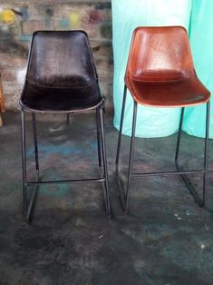 Metalen industriele barkruk cognac ruw Laundry Room, Bar Stools, Dining Chairs, New Homes, Furniture, Kitchen, House, Inspiration, Interiors