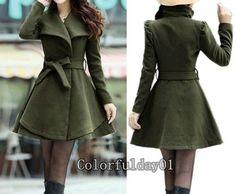 abrigo chaqueta con una capa de cinta Apring otoño invierno