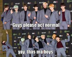 When BTS acts weird... | allkpop Meme Center