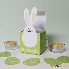 Vystřihovánky - Krabička zajíc Vystřihovánky - Krabička zajíc Vystřihovánky pro malé i velké. Po vystřižení získáte krabičku pro velikonoční nadílku a 4 vajíčka pro ozdobu či další tvoření. Krabička má vnitřní rozměry cca 6x6x6 cm. Vejde se do ní jedno vajíčko nebo bonbóny a čokolády jako výslužka. Vajíčka jsou vysoká cca 5 cm. Je možné je rozmístit ...