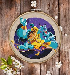 Aladdin Cross Stitch Pattern for Instant Download 005