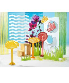 DCSE spring decoration window decoration flowers and butterflies