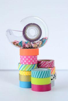 Add confetti to your tape dispenser.