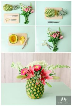 www.chloeandisabel.com/boutique/leslieevans Pineapples are popping up just about everywhere this season, but did you know — they're also a symbol of hospitality, warmth, + friendship! We've got the scoop on a fun + fruity craft project that's sure to earn you the title of Haute Host with the Most! Give our pineapple vase DIY a try!