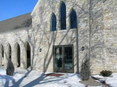 Entry way to St. John's Evangelical Lutheran Church in New Ulm, MN.