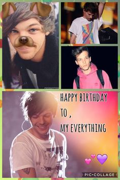 happy birthday to louis william tomlinson, my little ray of sunshine. he has helped me through so much, and he continues to do so. he is one of the most amazing, beautiful, incredible people on this earth, and he deserves the world. i love this boy so much:) ~celia