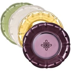 Juliska - 'Colette' Collection, Hand-Pressed Glass - Dessert Plate (also available in Delft Blue)
