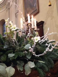 Church decoration idea  for winter wedding.