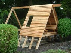 Nearly finished my daughters playhouse / swings / slide phew! #buildplayhouse #playhouseideas