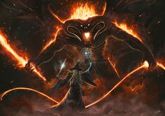 ArtStation - Gandalf vs Balrog, Daniel Pilla