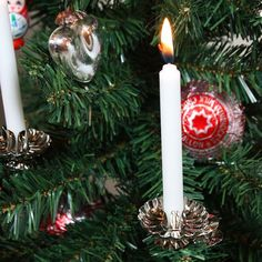 Classic Christmas Tree Candle Clip-On's In Silver Or Gold