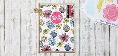 Good morning, all! I've always enjoyed stamping my own backgrounds for my cards and today I will share a quick way that you can use to make your own customized backgrounds. The stamp set that…