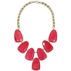 Harlow Statement Necklace in Pink - Kendra Scott Jewelry ($195) ❤ liked on Polyvore