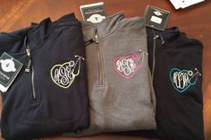 Nurses Monogram Sweatshirts with stethoscope by dicorembroidery