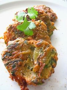 Chickpea Flour Fritters with Spinach, Red Onion and Potatoes