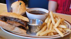 Prime Rib Sandwich with Fries