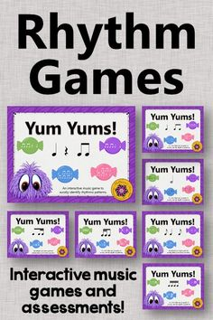 Your elementary music students are going to have so much fun with these interactive melody games and assessments!! Excellent music resource!!