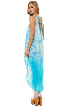 The Fishtail Dress in Sea Blue by *MKL Collective