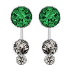 61857c1fc SWAROVSKI SLAKE DOT GREEN PIERCED EARRING JACKET Crystal Earrings, Crystal  Jewelry, Stone Jewelry,
