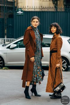 Paris SS 2019 Street Style: Madelynn Furlong and Alyssa Coscarelli Street Style Trends, Autumn Street Style, Street Style Looks, Street Chic, Street Fashion, Fall Winter Outfits, Autumn Winter Fashion, Couture Mode, Look At You