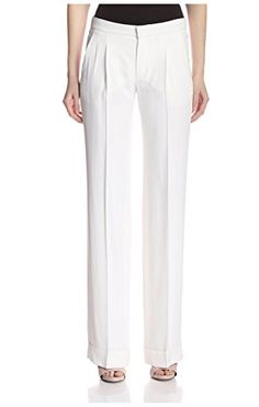 2f2ac2a874 Chlo Womens Wide Leg Trousers Milk 40 US >>> Learn more by visiting the  image link. Women's Fashion Clothing