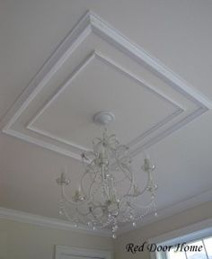 Looking for coffered ceiling design ideas and photos? Access the largest collection of coffered ceiling from top interior designers. Molding Ceiling, Ceiling Trim, Ceiling Design, Ceiling Detail, Ceiling Fan, Moldings And Trim, Crown Molding, Moulding, Door Frame Molding