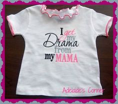 Sweet Embroidered Drama T Shirt for Baby Girl ruffled with decorative edging on Etsy, $8.00