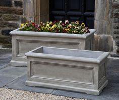 Orleans Medium cast stone Window Box made by Campania International