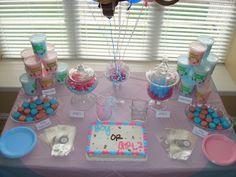 Kelly Caresse   Gender reveal party cake inspiratie en ideetjes. Jongen of meisje?  uitnodiging sweet table buffet
