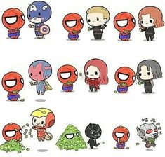 Image de Marvel, Avengers, and spiderman Baby Avengers, Avengers Cartoon, Marvel Cartoons, The Avengers, Marvel Jokes, Marvel Funny, Chibi Marvel, Marvel Art, Cute Disney Wallpaper