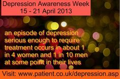 Want to support Depression Awareness Week - PIN our fact! http://patient.info/