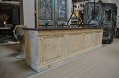 1900's painted shop counter, this would make a lovely kitchen island!