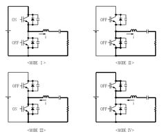 The schematic diagram of the induction heater with IGBT's