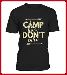 Camp Hair Dont Care Girls Women Camping TShirt Limited Edition - Yoga shirts (*Partner-Link)