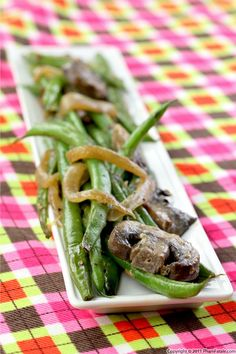 French Green Beans with Baby Bella Mushrooms. Made this 2nite. the ...